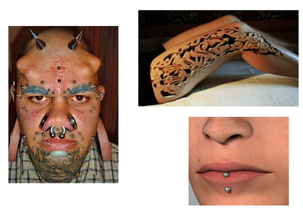 ART003Body Modification Article Writing Tasks  English Grammar and